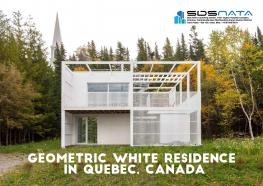 Geometric White Residence in Quebec, Canada