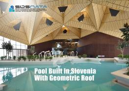 Pool Built In Slovenia With Geometric Roof