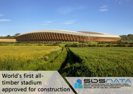World's first all-timber stadium approved for construction