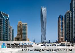 The twisting tower Cayan in UAE