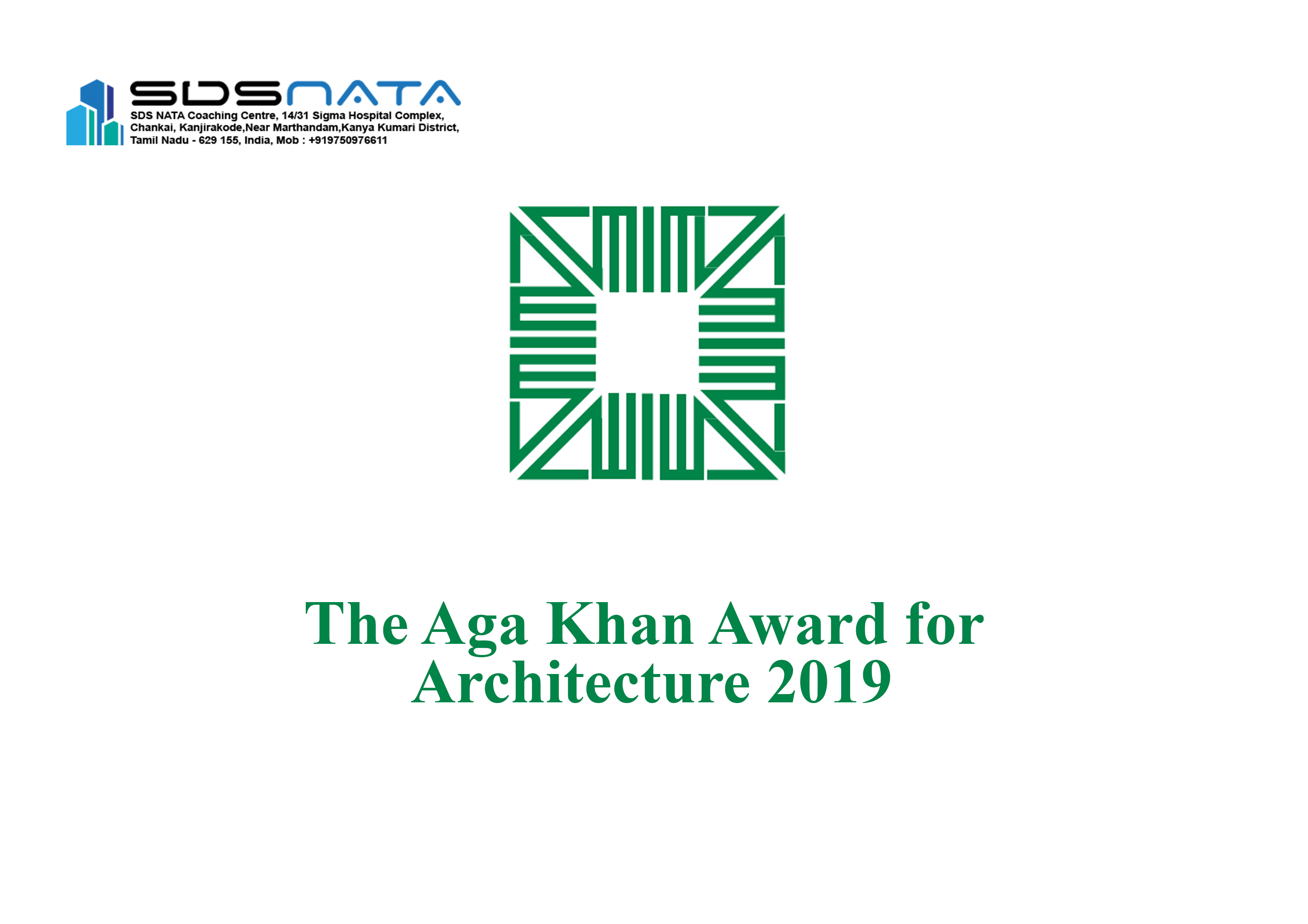 The Aga Khan Award for Architecture 2019